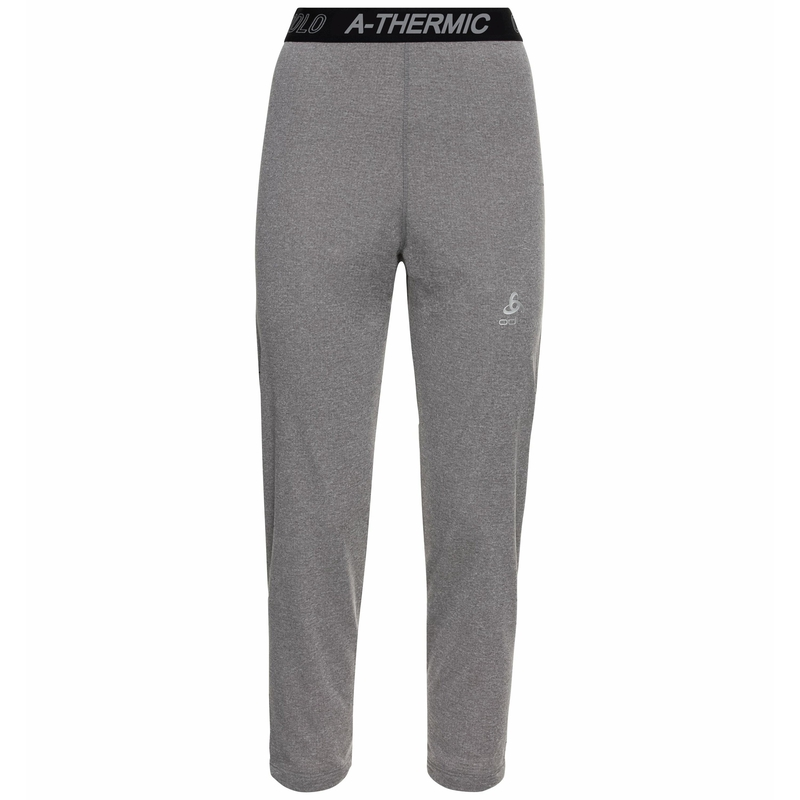Damen ACTIVE THERMIC 3/4- Leggings, grey melange, large