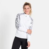 Women's SNOWCROSS 1/2 Zip Midlayer, white - graphic FW20, large