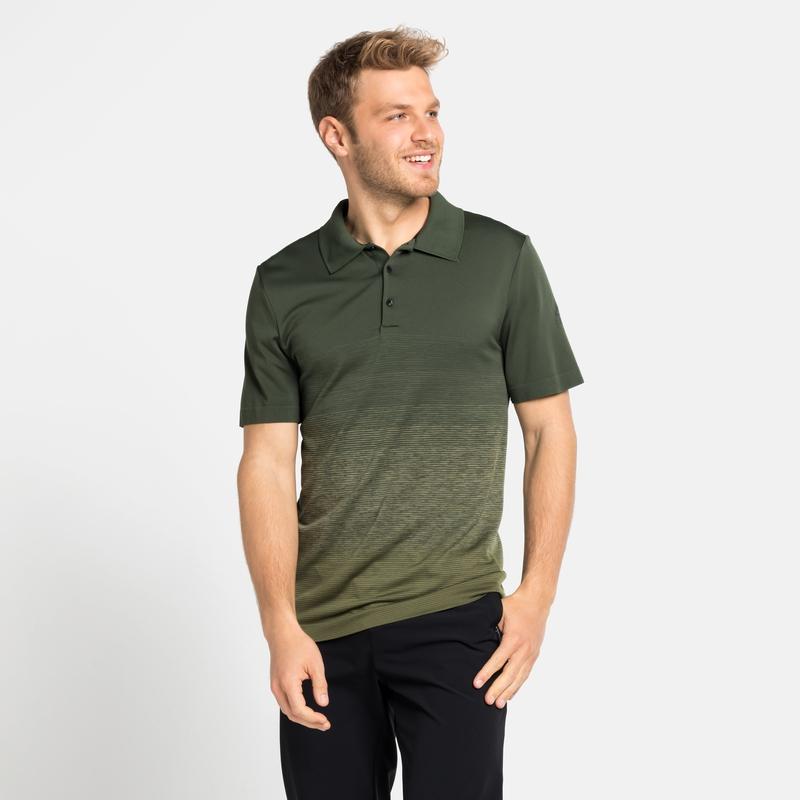 Polo HALDEN da uomo, climbing ivy - matte green, large