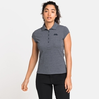 Women's KUMANO Polo Shirt, dark denim melange, large