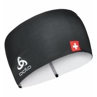 COMPETITION FAN WARM-hoofdband, Swissski black, large