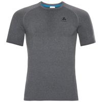 Men's PERFORMANCE WARM Base Layer T-Shirt, grey melange - black, large