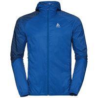 WISP Jacket men, energy blue - placed print SS18, large