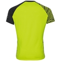 Shirt s/s crew neck MORZINE, acid lime - black, large