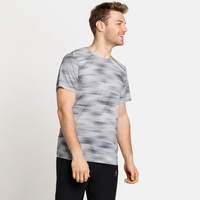 Men's FLI CHILL-TEC PRINT T-Shirt, odlo silver grey - graphic SS21, large
