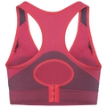 SEAMLESS HIGH Sport-BH, diva pink - odyssey gray, large