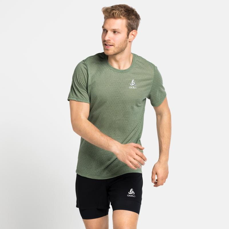 MILLENNIUM-T-shirt voor heren, matte green melange, large