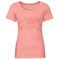 F-DRY PRINT Baselayer T-Shirt, coral haze - flower print SS19, large