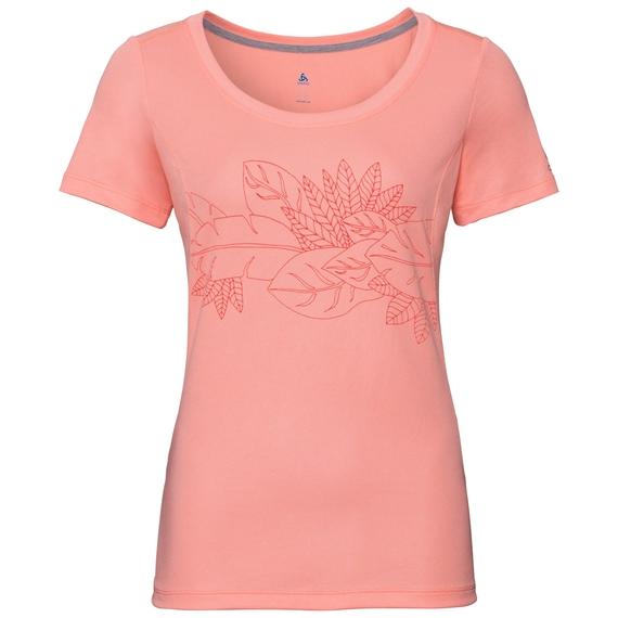 BL TOP F-DRY PRINT, coral haze - flower print SS19, large