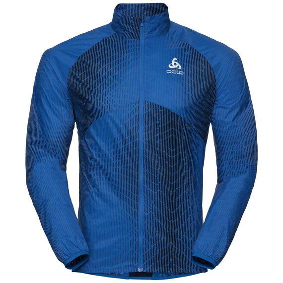 Jacket OMNIUS Light, energy blue - AOP SS18, large