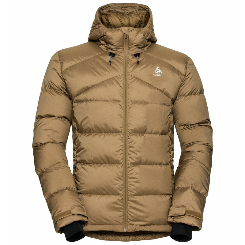 Men's HOODY COCOON N-THERMIC X-WARM Insulated Jacket, dull gold melange, large