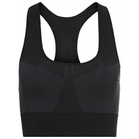 Women's SEAMLESS MEDIUM Sports Bra, black, large