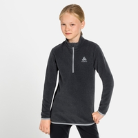ROY KIDS STRIPE 1/2 Zip Midlayer, shale grey - black stripes, large