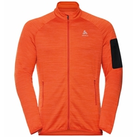 Men's STEAM Full-Zip Midlayer Top, mandarin red melange, large