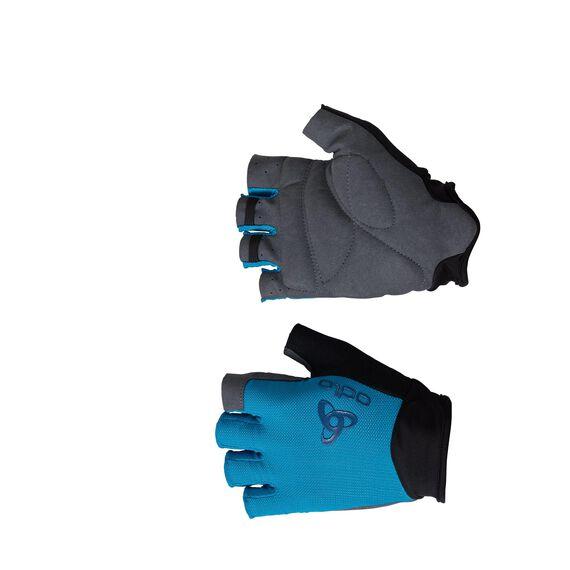 Gloves short ACTIVE, blue jewel, large