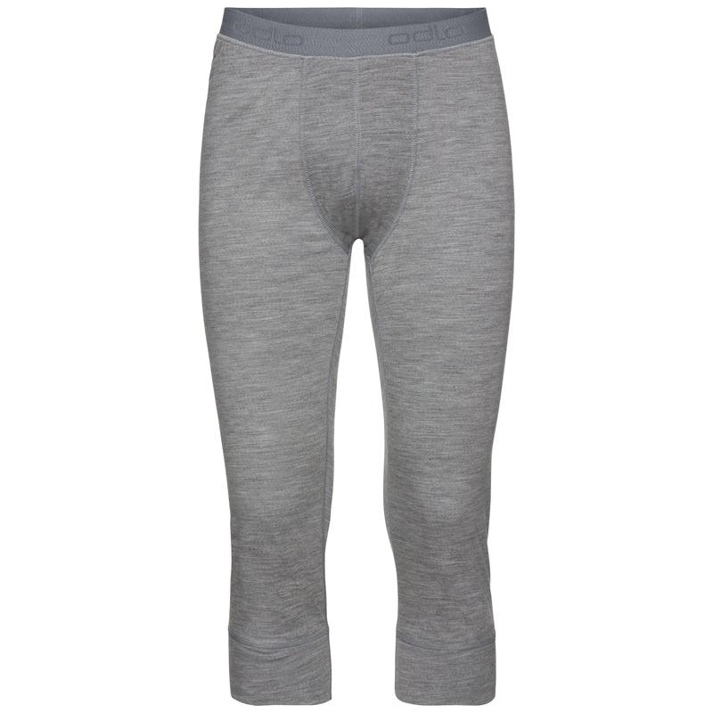 Herren NATURAL 100% MERINO WARM 3/4 Funktionsunterwäsche 3/4 Hose, grey melange - grey melange, large