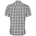 Shirt k/m MYTHEN, white - odlo graphite grey - odlo concrete grey - check, large