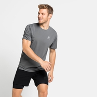 T-shirt da corsa da uomo ZEROWEIGHT CHILL-TEC da uomo, odlo steel grey, large