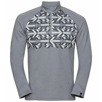Men's PAZOLA RIBBON Half-Zip Midlayer Top, grey melange - graphic FW20, large