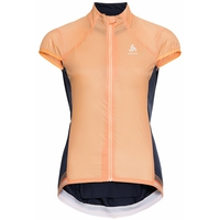 Women's DUAL DRY Cycling Vest, papaya - diving navy, large
