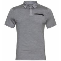 Men's CONCORD NATURAL Polo Shirt, grey melange, large