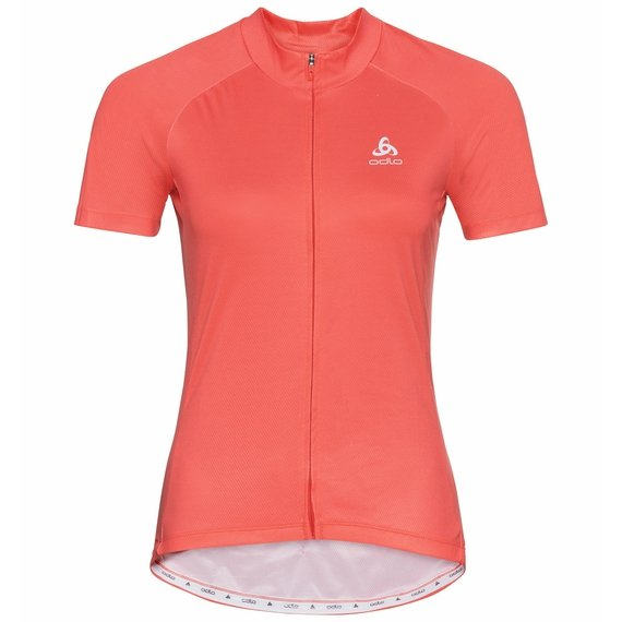 Women's ELEMENT Short-Sleeve Cycling Jersey, hot coral, large