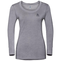 Women's NATURAL + LIGHT Long-Sleeve Base Layer Top, grey melange, large