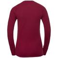 SUW Top Active Revelstoke Warm langärmeliges Oberteil mit Rundhalsausschnitt, rumba red - mesa rose, large