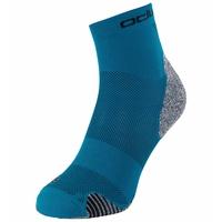 CERAMICOOL Running Quarter Socks, mykonos blue, large