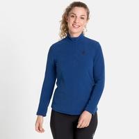 Pull technique à col demi-zippé ROY pour femme, diving navy - blue tattoo - stripes, large