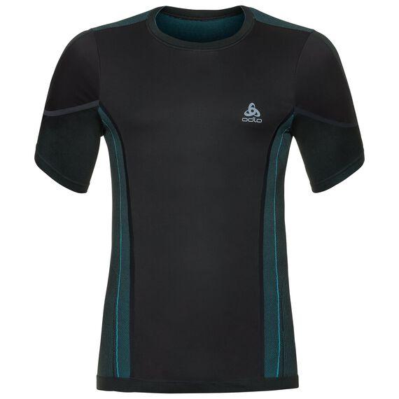 T-shirt s/s crew neck PERFORMANCE Windshield CYC LIGHT, black - lake blue, large