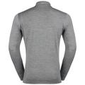 SUW Top Turtle neck 1/2 zip l/s Natural 100% MERINO Warm, grey melange - grey melange, large