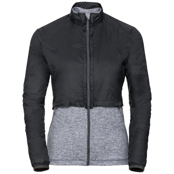 Midlayer full zip KUMANO ACTIVE CONVERT, black - grey melange, large