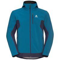 Jacket softshell CUSTER, mykonos blue - peacoat, large