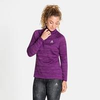 Women's MILLENNIUM ELEMENT Half-Zip Long-Sleeve Midlayer Top, charisma melange, large