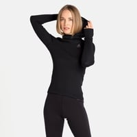 Women's ACTIVE WARM ECO Baselayer Top with Facemask, black, large