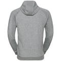 Felpa midlayer zip intera Core, grey melange, large