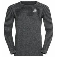 Men's ESSENTIAL SEAMLESS Long-Sleeve Running T-Shirt, grey melange, large