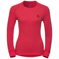 Women's ACTIVE WARM Long-Sleeve Baselayer Top, hibiscus, large