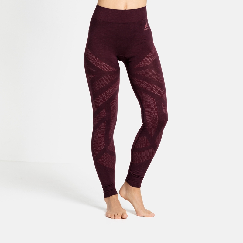 Damen NATURAL + KINSHIP WARM Leggings, winetasting melange, large