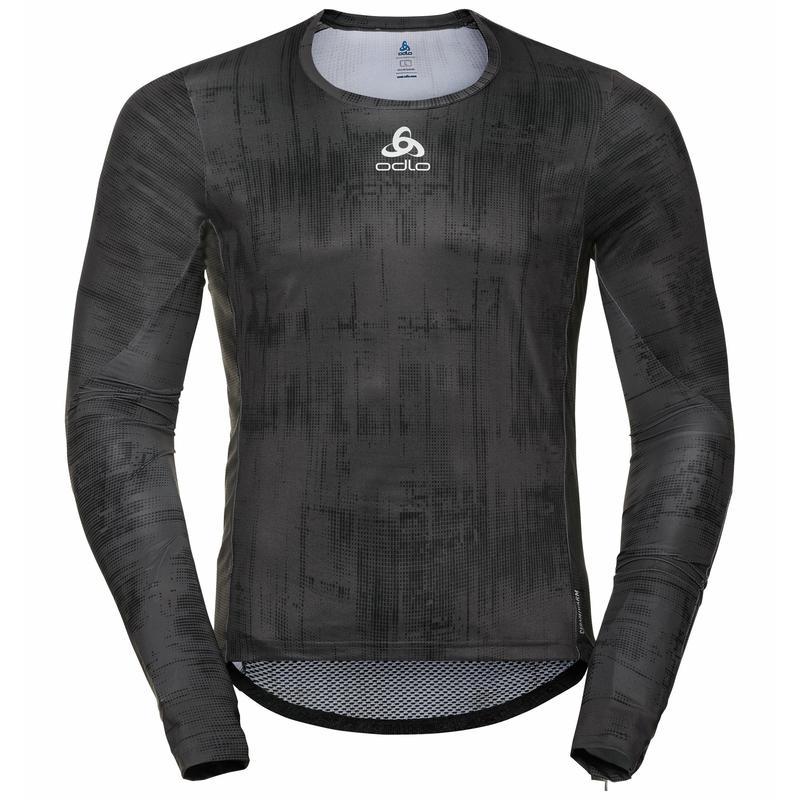 Men's ZEROWEIGHT CERAMIWARM Long-Sleeve Cycling Top, odlo graphite grey - black, large