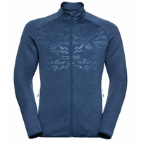 Top midlayer con zip intera CORVIGLIA KINSHIP EM da uomo, estate blue, large