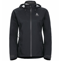 Women's WATERTON STRETCH Hardshell Jacket, black - odlo graphite grey, large