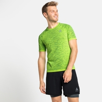Men's BLACKCOMB CERAMICOOL Running T-Shirt, lounge lizard - space dye, large