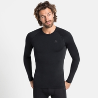 Men's PERFORMANCE WARM ECO Long-Sleeve Baselayer Top, black - odlo graphite grey, large