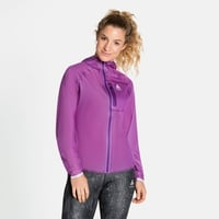 Women's ZEROWEIGHT DUAL DRY Waterproof Running Jacket, hyacinth violet, large