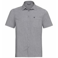 Men's ANTON Short-Sleeve Shirt, grey melange, large