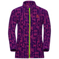 Midlayer full zip SCHLADMING KIDS, pickled beet AOP, large