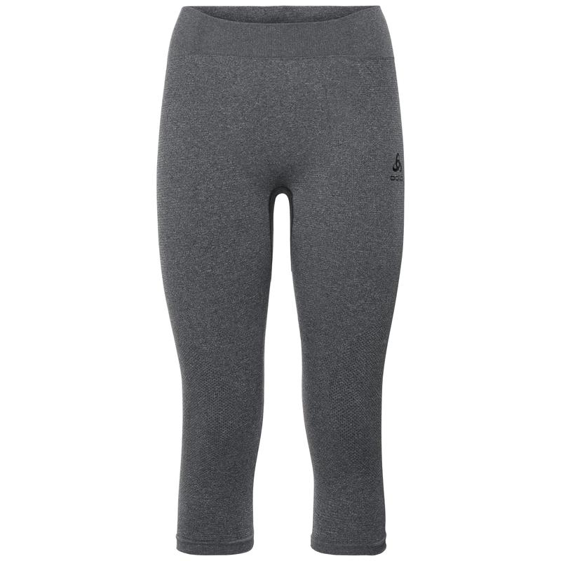 Damen PERFORMANCE WARM 3/4 Funktionsunterwäsche Hose, grey melange - black, large