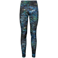 Women's MILLENNIUM Tights, black multicolour AOP FW19, large